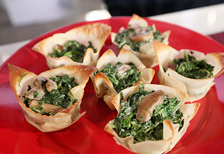 Spinach Chip and Dip Cups