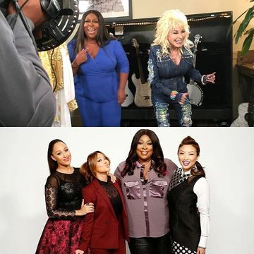 Today on #TheReal, we sit down with country music legend @DollyParton to get…