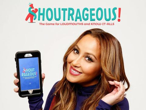 Mrs. Houghton reppin' #TheReal's new app... #Shoutrageous!